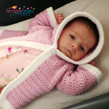 Hooded Baby Jacket crochet pattern