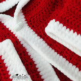 Father Christmas coat crochet pattern