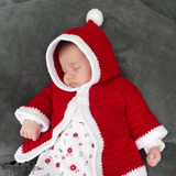 Christmas baby coat crochet pattern