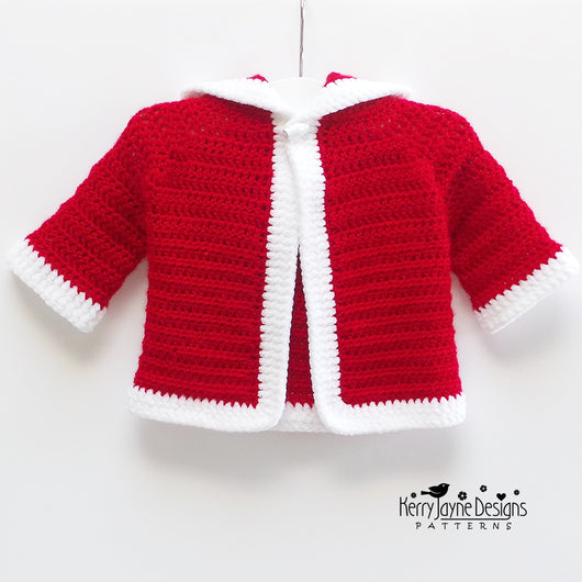 Christmas Baby cardigan pattern