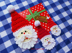 Santa applique crochet pattern