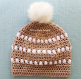 Modern crochet hat pattern