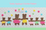 Crochet Teddy Applique pattern