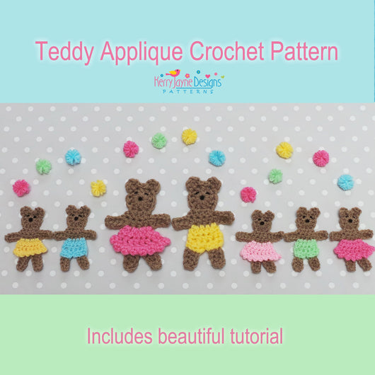 Teddy applique crochet pattern