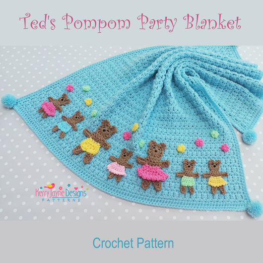 Crochet baby blanket pattern Teddies