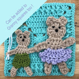 Teddy Bear Granny Square crochet pattern