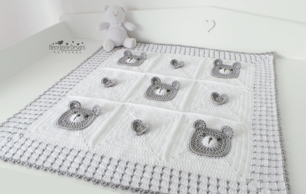CROCHET PATTERN: teddy bear crochet baby blanket pattern and | Etsy | 649x1023
