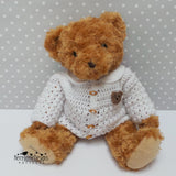 Teddy in a cardigan crochet pattern