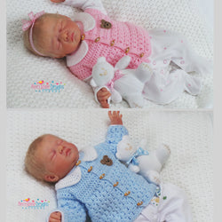 Baby Cardigan and Waistcoat crochet pattern