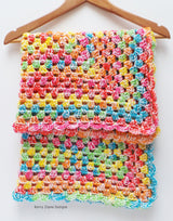 Multi coloured baby blanket pattern