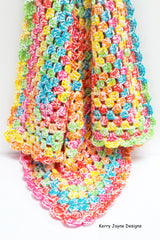 Crochet Granny square blanket pattern
