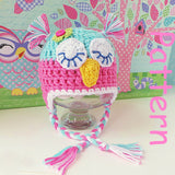 Baby Owl Hat Crochet Pattern UK