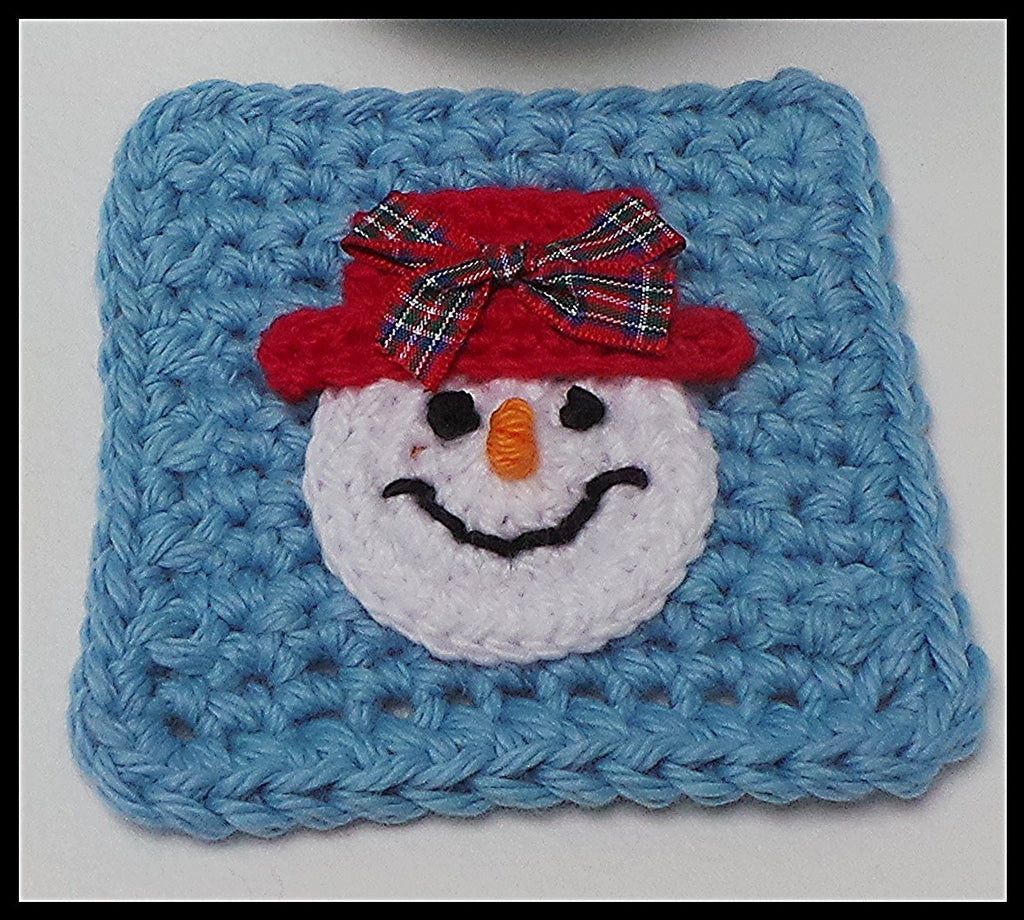 Snowman Coasters Crochet Pattern Kerry Jayne Designs