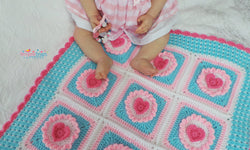 Cupcake Heart blanket USA