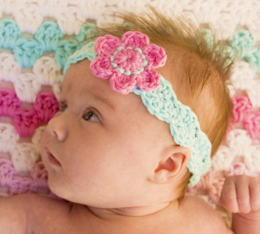 Flower headband crochet pattern usa kerry jayne designs crochet baby headband pattern baby headband crochet pattern mightylinksfo