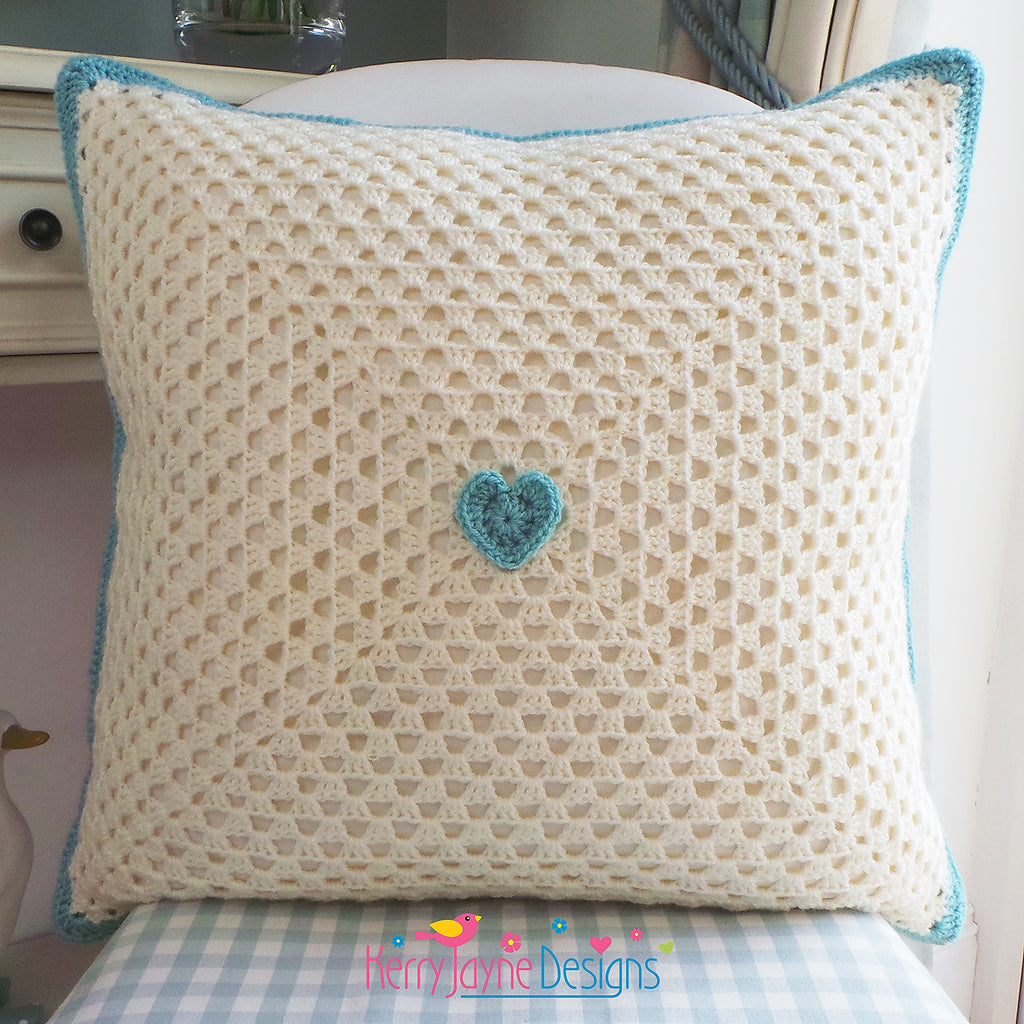 Granny Square Pillow Pattern Usa Kerry Jayne Designs