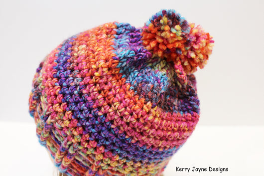 Magic Bun Hat   Messy Bun Hat Crochet Pattern USA – Kerry Jayne Designs b6870d4bf69d
