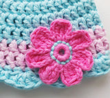 Crochet flower hat pattern