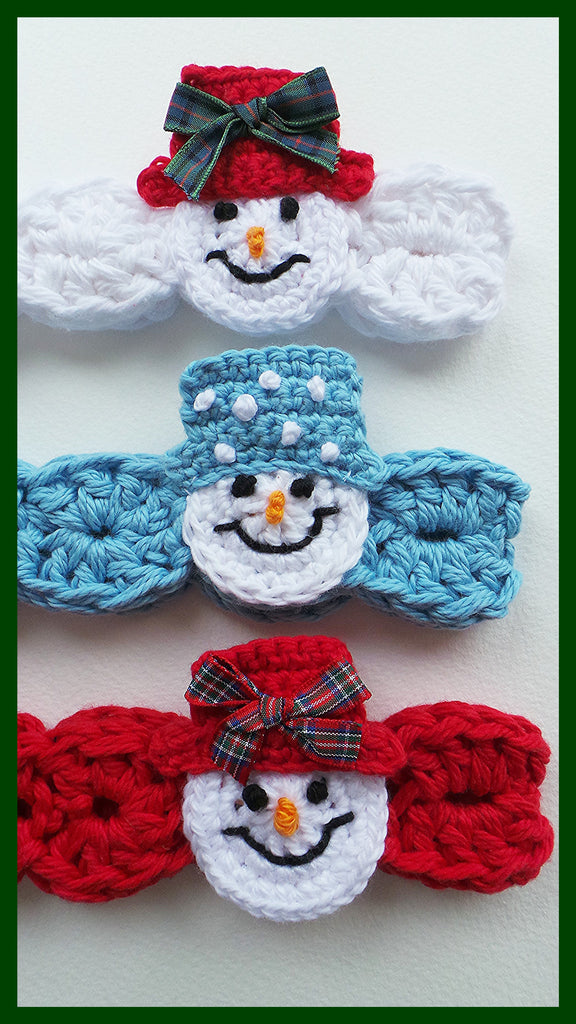 Snowman Headband Crochet Pattern Usa Kerry Jayne Designs