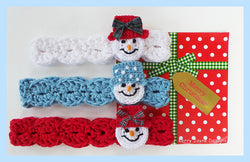 Snowman Headband Crochet pattern USA