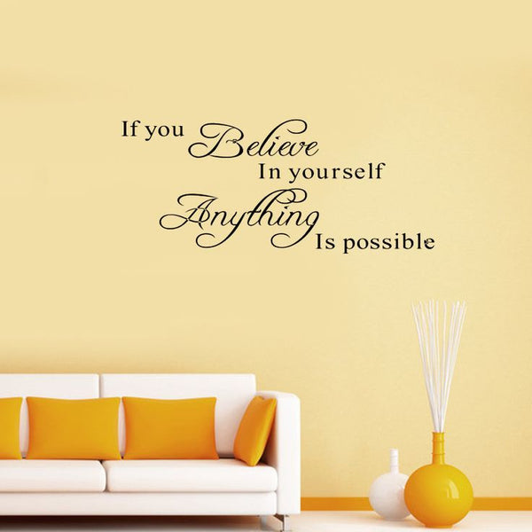 Believe in Yourself - Bedroom Wall Sticker Decoration