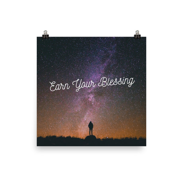 Earn Your Blessing - Poster