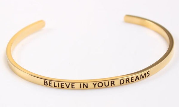 Believe in your Dreams - Golden Mantra Bracelet