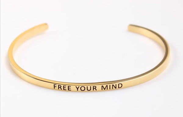 Free Your Mind - Golden Mantra Bracelet