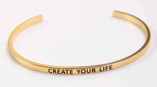 Create Your Life - Golden Mantra Bracelet