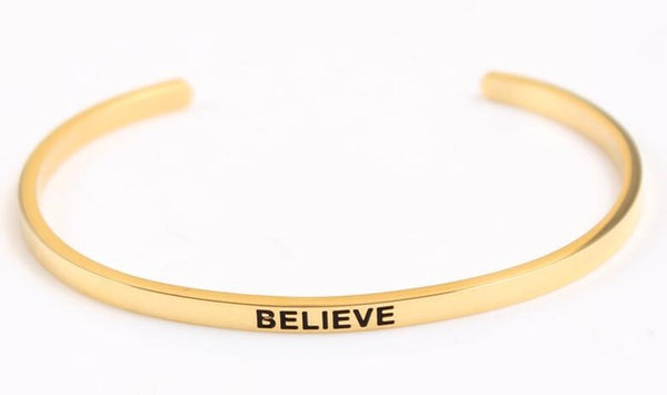 Believe - Golden Mantra Bracelet