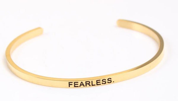 Fearless - Golden Mantra Bracelet