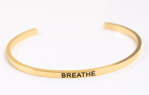 Breath - Golden Mantra Bracelet