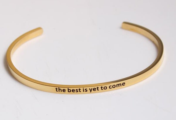 The Best is yet to Come - Golden Mantra Bracelet