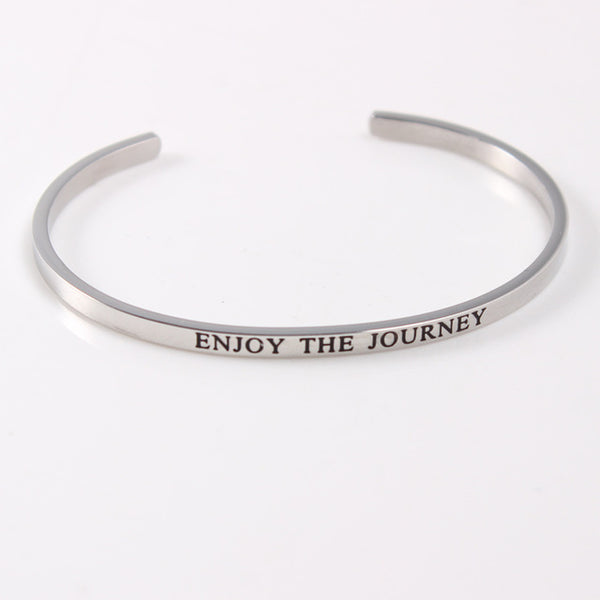 Enjoy The Journey - Mantra Bracelet