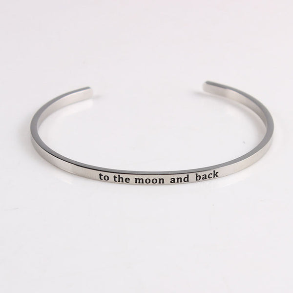 To The Moon And Back - Mantra Bracelet