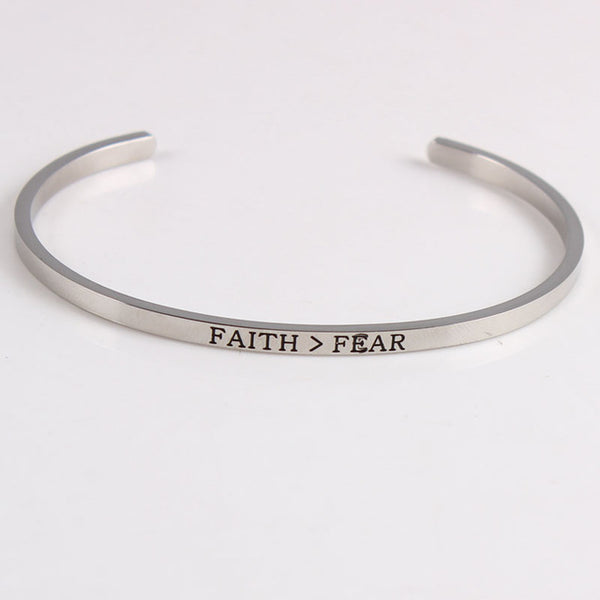 Faith Over Fear - Mantra Bracelet