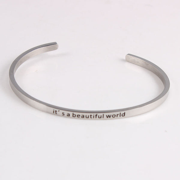 Beautiful World - Mantra Bracelet