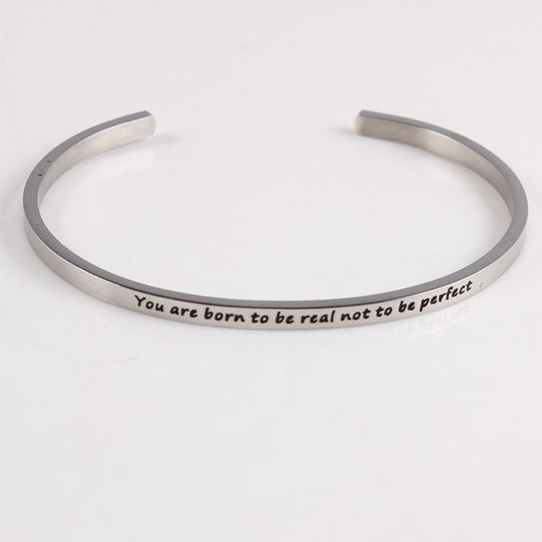 Born To Be Real - Mantra Bracelet