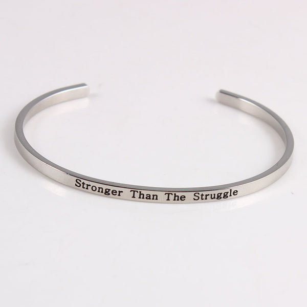 Stronger Than The Struggle - Mantra Bracelet