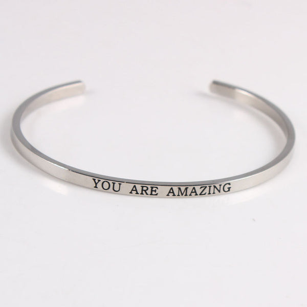 You Are Amazing - Mantra Bracelet