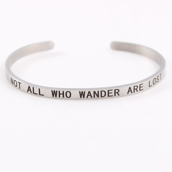 Not All Those Who Wander Are Lost - 4mm Mantra Bracelet
