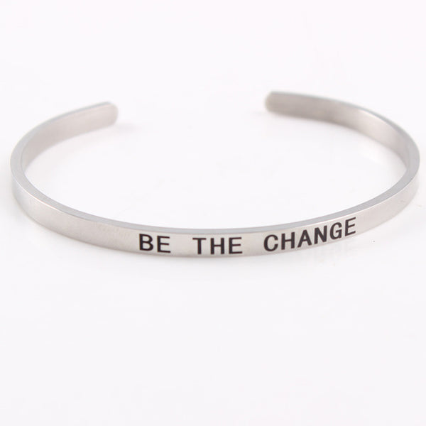 Be The Change - 4mm Mantra Bracelet