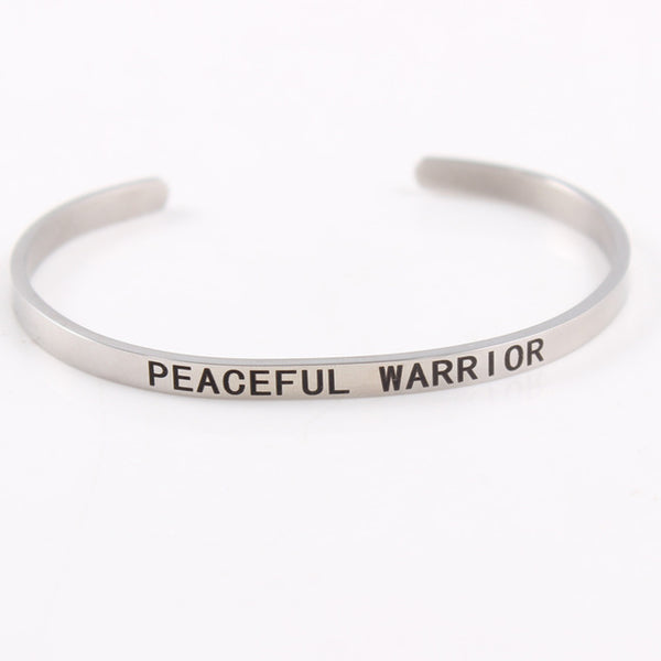 Peaceful Warrior - 4mm Mantra Bracelet