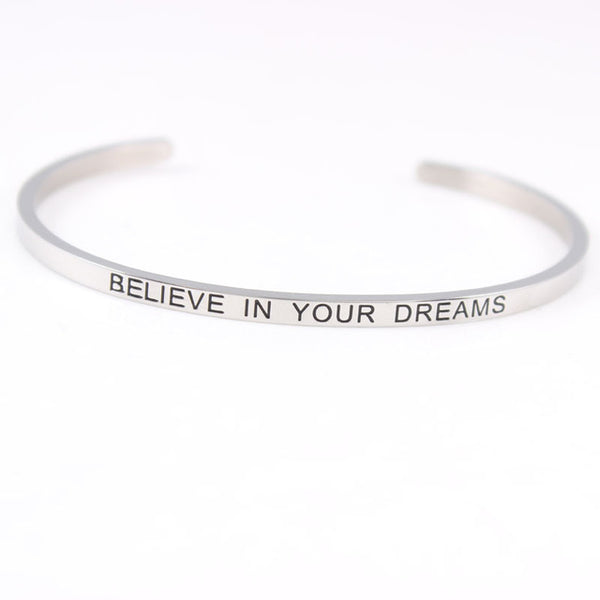 Believe In Your Dreams - Mantra Bracelet