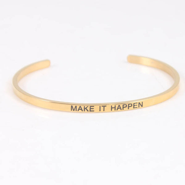 Make It Happen - Mantra Bracelet