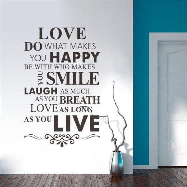 Do What Makes You Happy Bedroom Wall Sticker
