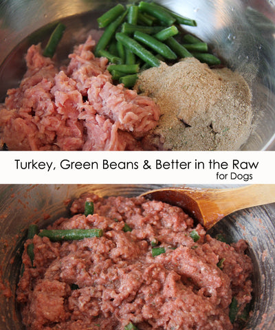 Raw Dog Food Recipe - Turkey & Green Beans