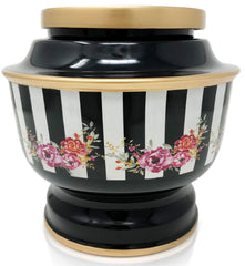 Classic Flower Funeral Cremation Urn for human Ashes