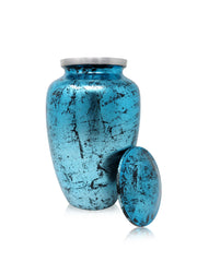 Royal Sky Blue Cremation Urn for Human Ashes