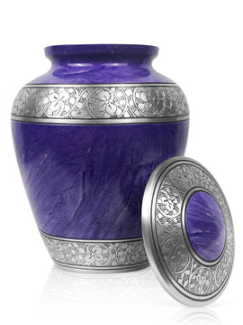 Adult - Royal Purple Cremation Urn for Human Ashes